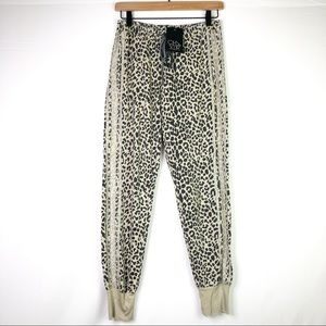 NWT Chaser Leopard Sweatpants Joggers